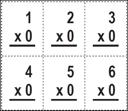 Monster image pertaining to printable multiplication cards