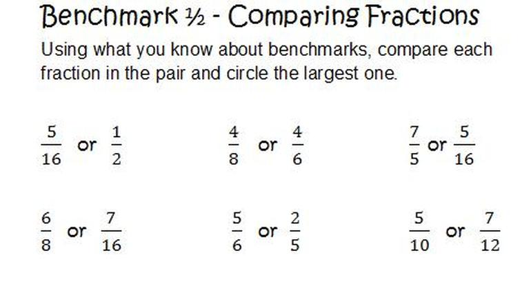 Benchmark Fractions Worksheet printable benchmark fractions – Benchmark Fractions Worksheet